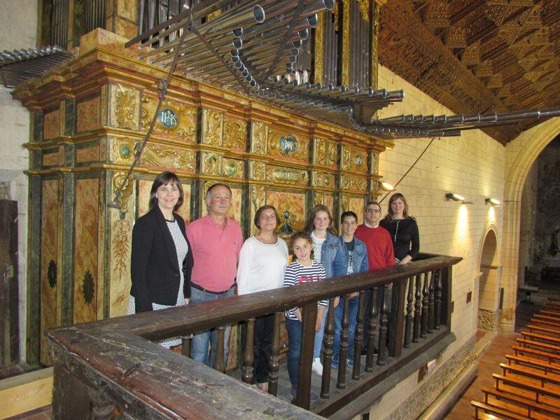 Integrantes del Áula de Órgano San Marcos de Cardenete (Cuenca), 2017
